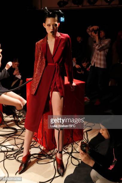 General view of the Underage DiscoveryLAB during London Fashion Week February 2019 at the BFC Designer Showrooms on February 17, 2019 in London,...