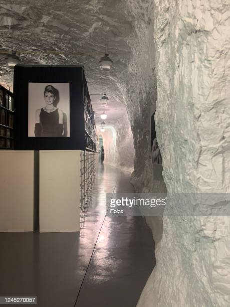 A general view of the underground preservation facility which houses the famed Bettmann photographic collection which comprises of some 11 million...