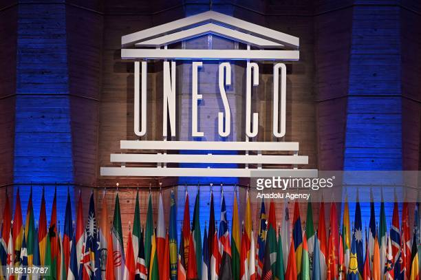 A general view of the UNESCO meeting during the 40th session of the United Nations Educational Scientific and Cultural Organization at the UNESCO...