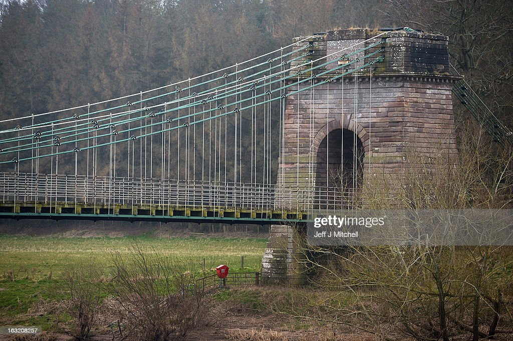 A general view of the Union Bridge on the River Tweed on March 6, 2013 in Berwick Upon Tweed, England. The bridge was built in 1820 and is Europe's oldest surviving iron chain suspension bridge. The bridge which connects the Scottish village of Fishwick to Horncliffe on the English bank is now facing closure with both Scottish Borders Council and Northumberland, citing a £4.7million repair bill for the structure.