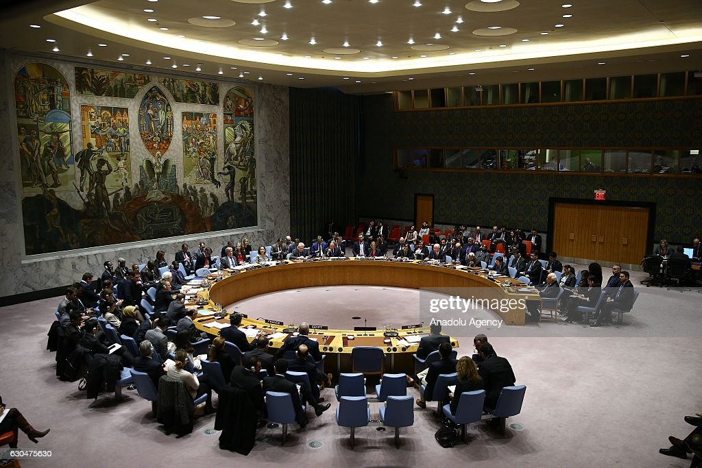 UN votes to stop Israeli settlements as US abstains : News Photo