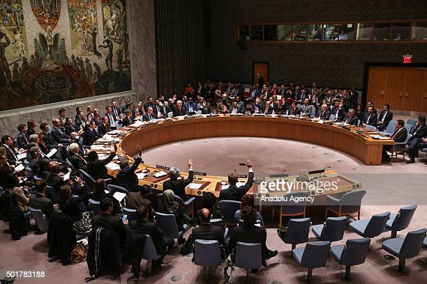 General view of the United Nations Security Council meeting on 'Countering the Financing of Terrorism' in New York on Dec 17 2015