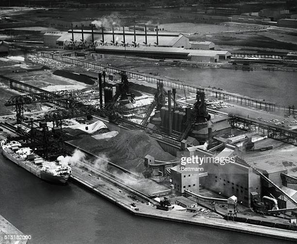 General view of the United States Steel Corporation's Fairless Works on the Delaware River near Morrisville Pennsylvania Undated photograph