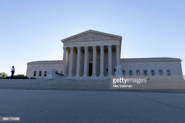 A general view of The United States Supreme Court on the morning of July 10 2018 in Washington DC Brett Kavanaugh President Trump's nominee to be an...