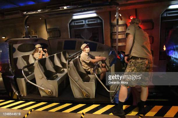 General view of the Universal Studios cast members during the first day of reopening from the coronavirus pandemic at Universal Orlando Resort on...