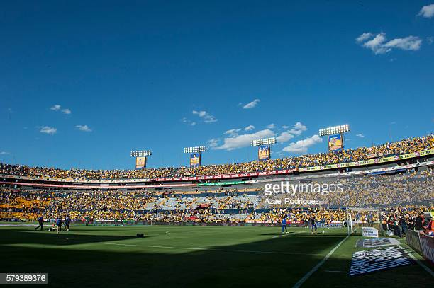 General view of the Universitario Stadium during the 2nd round match between Tigres UANL and Atlas as part of the Torneo Apertura 2016 Liga MX at...