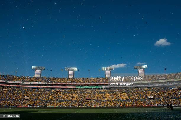 General view of the Universitario Stadium prior the 1st round match between Tigres UANL and Puebla as part of the Torneo Apertura 2017 Liga MX at...