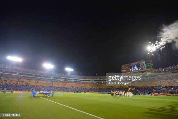General view of the Universitario Stadium prior the semifinal match between Tigres UANL and Santos Laguna as part of the CONCACAF Champions League...