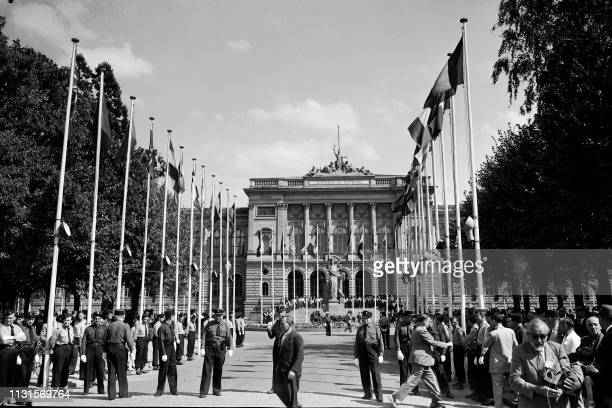 General view of the Universitary Palace before the first meeting of the Consultative Assembly of the Council of Europe at the University Palace in...