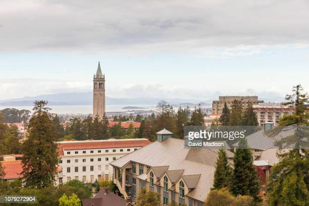 A general view of the University of California Berkeley campus including Sather Tower also known as The Campanile as seen from Memorial Stadium...