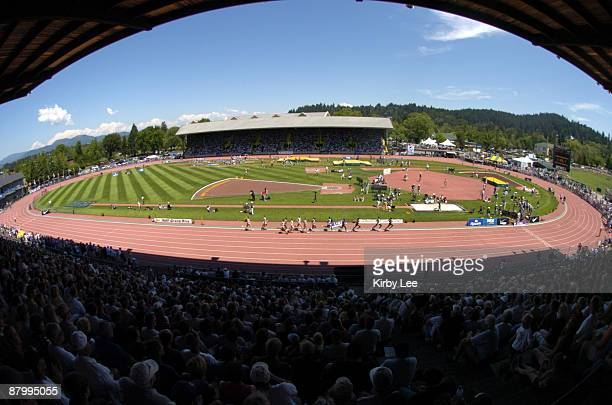 General view of the University of Oreogn's Hayward Field, site of the Prefontaine Classic.