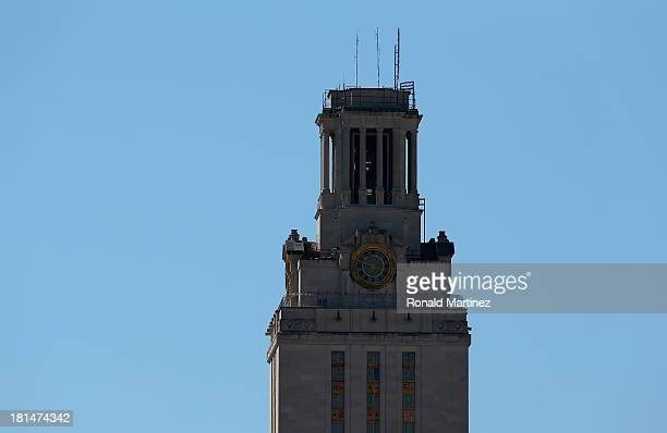 General view of the University of Texas Tower on the University of Texas campus on September 21, 2013 in Austin, Texas.