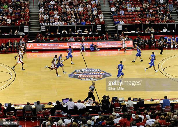 A general view of the UNLV Rebels and the Air Force Falcons during a quarterfinal game of the Conoco Mountain West Conference Basketball tournament...