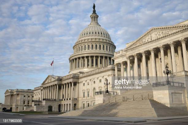 General view of the U.S. Capitol Building on May 14, 2021 in Washington, DC. Republican members of the House of Representatives will gather today for...