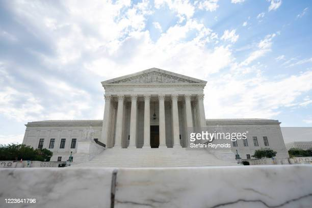 General view of the U.S. Supreme Court on June 30, 2020 in Washington, DC. The court is expected to release a ruling determining whether President...