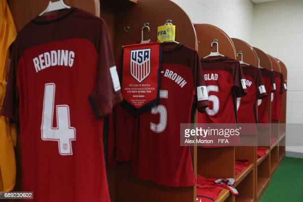 General view of the USA team locker room prior to the FIFA U-20 World Cup Korea Republic 2017 group F match between USA and Saudi Arabia at Daejeon...