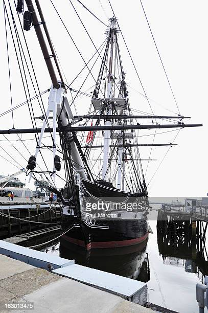 A general view of the USS Constitution in Charlestown Navy Yard on March 3 2013 in Charlestown