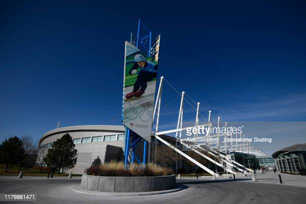 A general view of the Utah Olympic Oval during the ISU World Cup Short Track on November 3 2019 in Salt Lake City Utah
