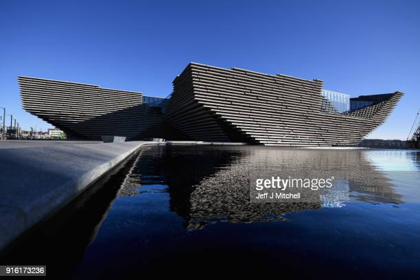 A general view of the VA museum by Japanese architect Kengo Kuma and designer of the building on February 9 2018 in Dundee Scotland The...