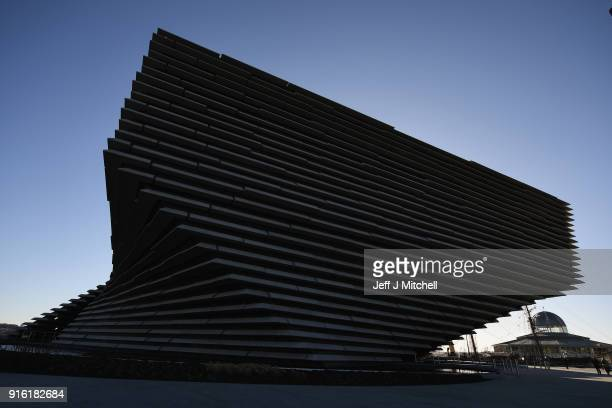 A general view of the VA museum designed by Japanese architect Kengo Kuma on February 9 2018 in Dundee Scotland The internationally renowned...
