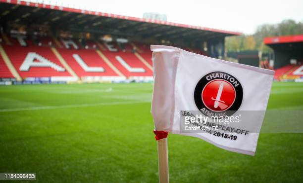 General view of the Valley before the Sky Bet Championship match between Charlton Athletic and Cardiff City at The Valley on November 23 2019 in...