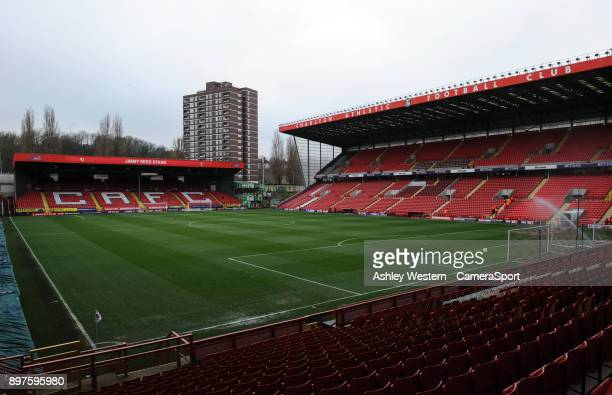 A general view of The Valley home of Charlton Athletic FC during the Sky Bet League One match between Charlton Athletic and Blackpool at The Valley...