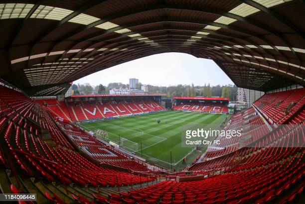 A general view of the Valley Stadium the Sky Bet Championship match between Charlton Athletic and Cardiff City at The Valley on November 23 2019 in...
