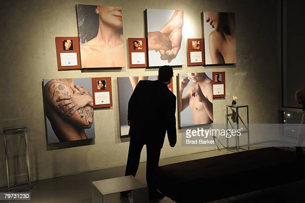 A general view of the Vaseline and Conde Nast Media Group Skin is Amazing exhibit at The Glass House in the Chelsea Art Tower February 12 2008 in New...