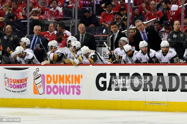 A general view of the Vegas Golden Knights bench during the second period against the Washington Capitals in Game Four of the Stanley Cup Final...