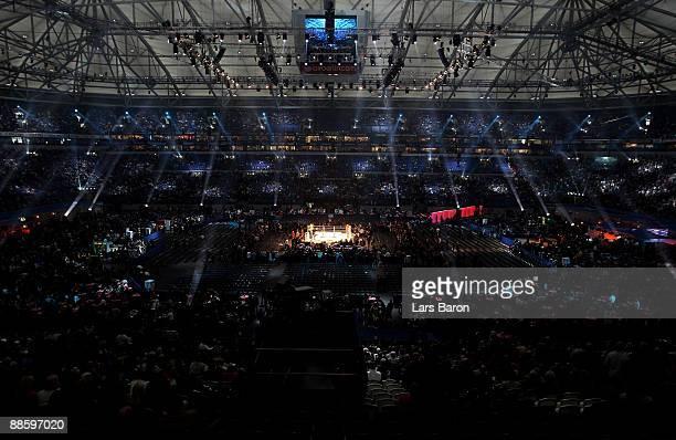 General view of the Veltins Arena is taken prior to the WBO, IBF & WBO Heavyweight fight between Wladimir Klitschko of Ukraine and Ruslan Chagaev of...