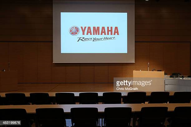 General view of the venue ahead of the announcement of their consolidated first half business results of 2014 at the Meiji Yasuda Seimei Building on...