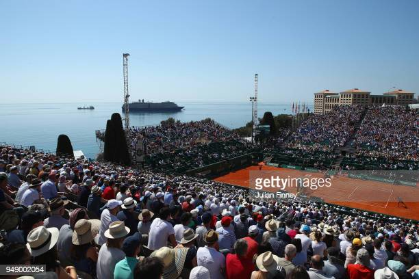 A general view of the venue as Grigor Dimitrov of Bulgaria plays David Goffin of Belgium in their singles match during say six of ATP Masters Series...