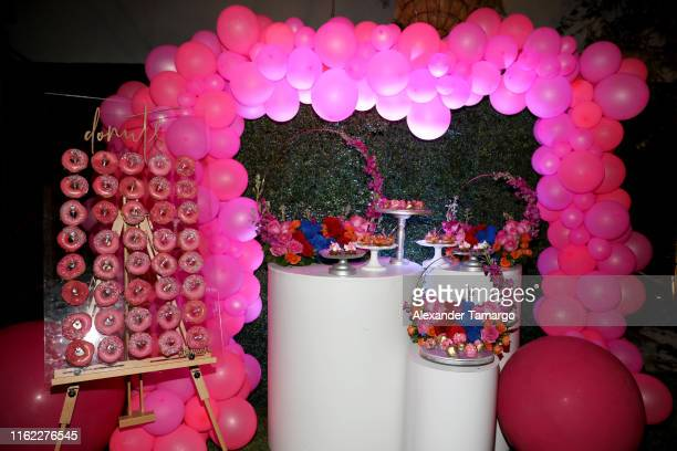 General view of the venue during the OMG Swimwear Influencer Dinner on July 15, 2019 in Miami, Florida.