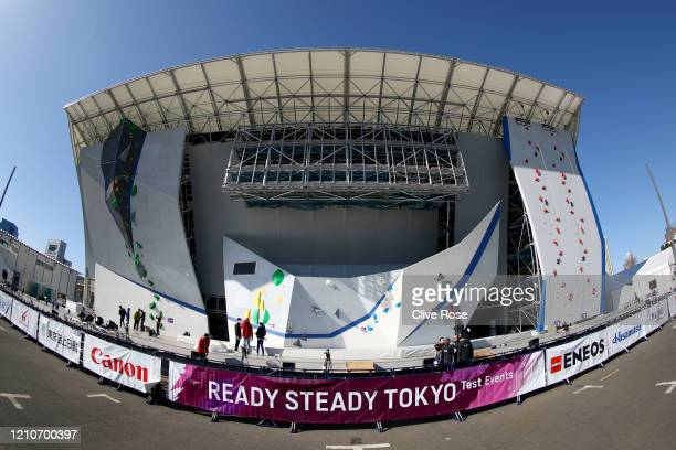 General view of the venue during the Sports Climbing Tokyo 2020 Olympic test event at the Aomi Urban Sports Park on March 06, 2020 in Tokyo, Japan....