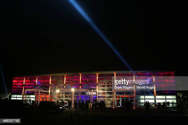 A general view of the venue exterior during the World Rugby Awards 2015 at Battersea Evolution on November 1 2015 in London England