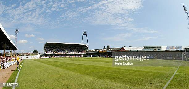 General view of the Vetch Field during the Coca Cola League Two match between Swansea City and Northampton Town held at the Vetch Field on August 7...