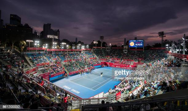 General view of the Victoria Park prior the women's doubles semi-final match of the Prudential Hong Kong Tennis Open 2017 between Jia-Jing Lu of...