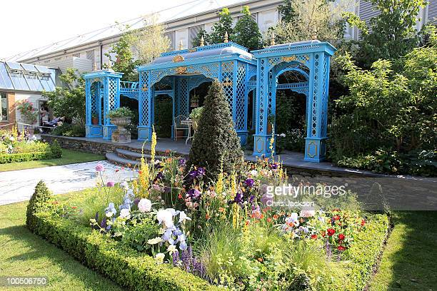 General view of the Victorian Aviary Garden at Chelsea Flower Show on May 25, 2010 in London, England.The Royal Horticultural Society flagship flower...