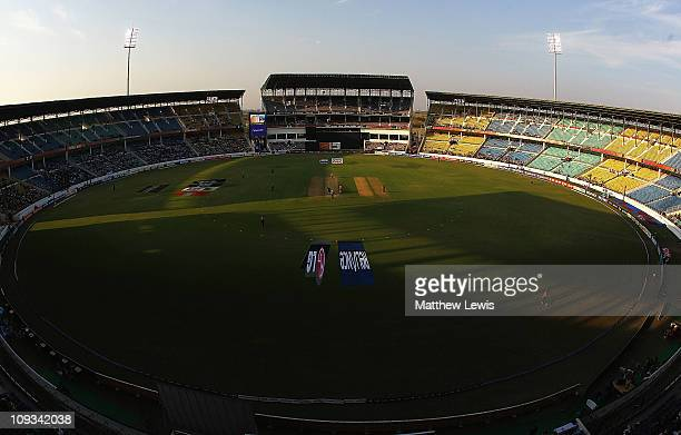 A general view of the Vidarbha Cricket Association Ground during the ICC World Cup Group B match between England and Netherlands at Vidarbha Cricket...
