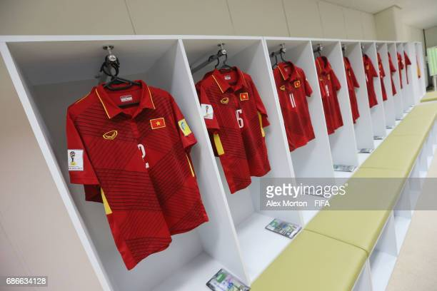 General view of the Vietnam locker room prior to the FIFA U20 World Cup Korea Republic 2017 group E match between Vietnam and New Zealand at Cheonan...