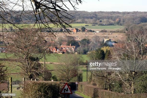 General view of the village of Bucklebury West Berkshire