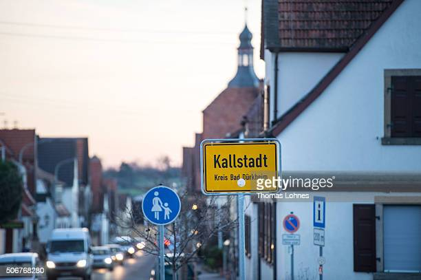 General view of the village of Kallstadt, where Friedrich Trump, grandfather of U.S. Presidential candidate Donald Trump, grew up pictured on January...