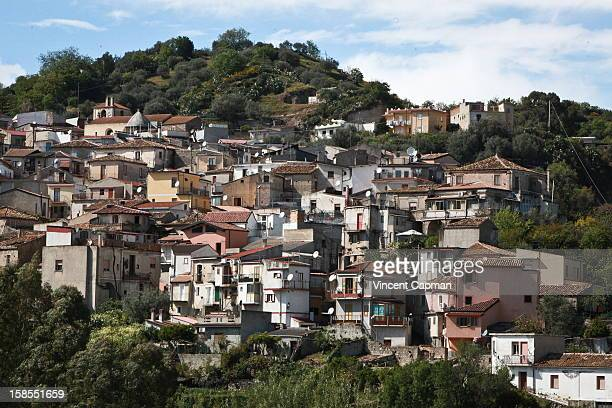 A general view of the village on March 2012 in the village of Riace near Reggio Calabria Italy To help revive the village economy the village...