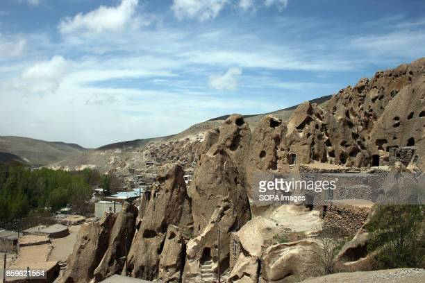 A general view of the village with the mountain behind The tiny village of Kandovan in the Iranian East Azerbaijan Province is known for its cliff...