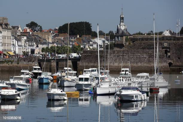 A general view of the Ville Close during the FIFA U20 Women's World Cup France 2018 on August 3 2018 in Concarneau France