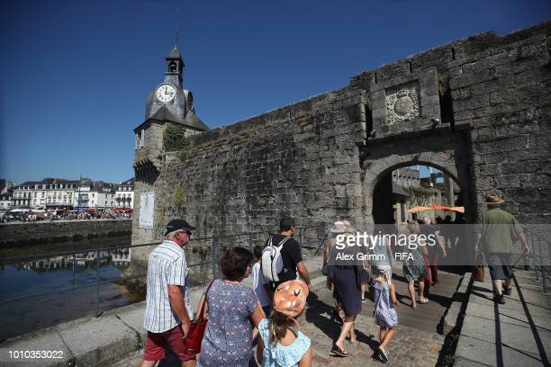 General view of the Ville Close during the FIFA U-20 Women's World Cup France 2018 on August 3, 2018 in Concarneau, France.