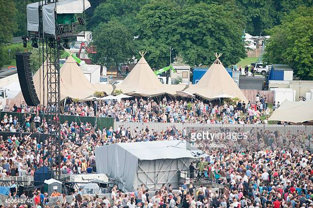 A general view of the VIP area at The Isle of Wight Festival as Seaclose Park on June 14 2014 in Newport Isle of Wight