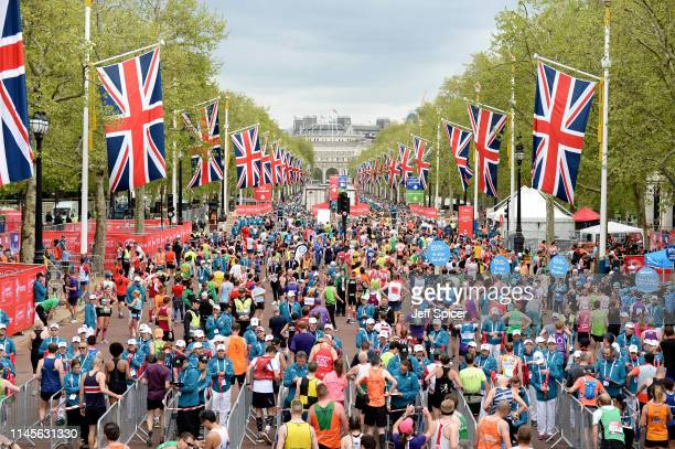 A general view of the Virgin London Marathon 2019 on April 28 2019 in London United Kingdom