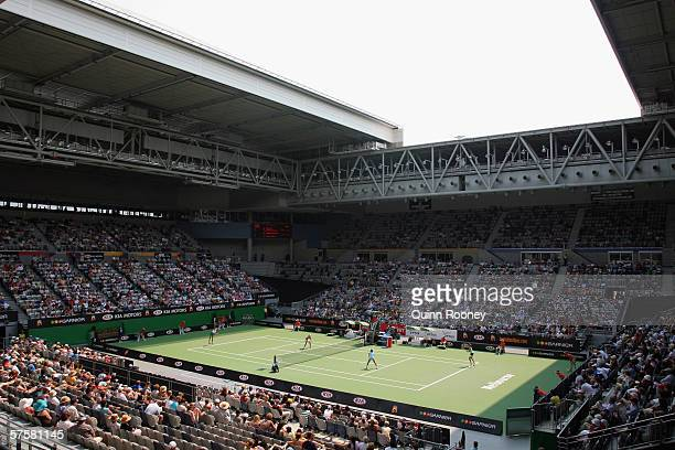 General view of the Vodafone Arena during a doubles match on day fourteen of the Australian Open at Melbourne Park January 29, 2006 in Melbourne,...