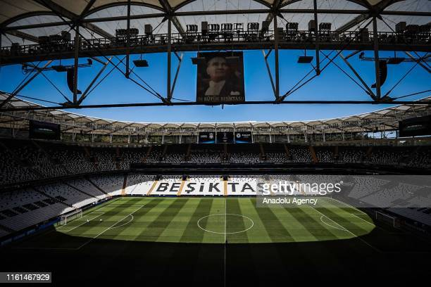 General view of the Vodafone Park as preparations continue ahead of the UEFA Super Cup match between Liverpool and Chelsea in Istanbul, Turkey on...